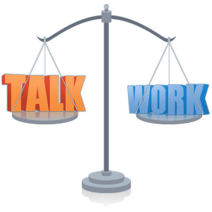 Collaboration Balance: Work and Talk