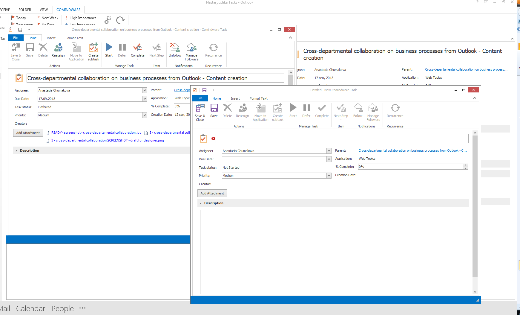 Adaptive Business Process Management From Outlook