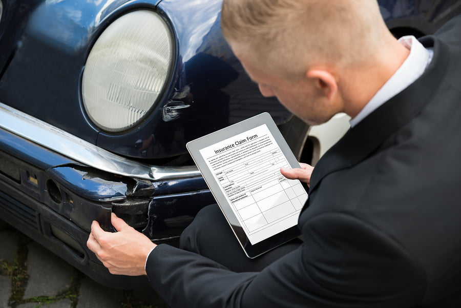 Insurance Claim Form On Digital Tablet