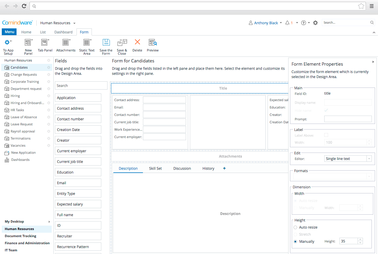 Request Forms Handling