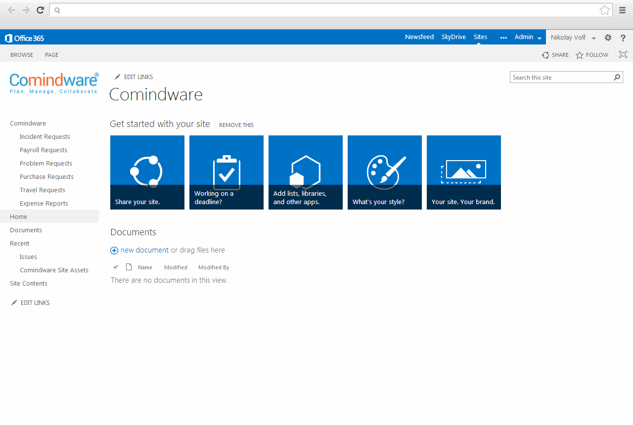 Comindware Tracker is available in MS Office and MS 365 SharePoint Online