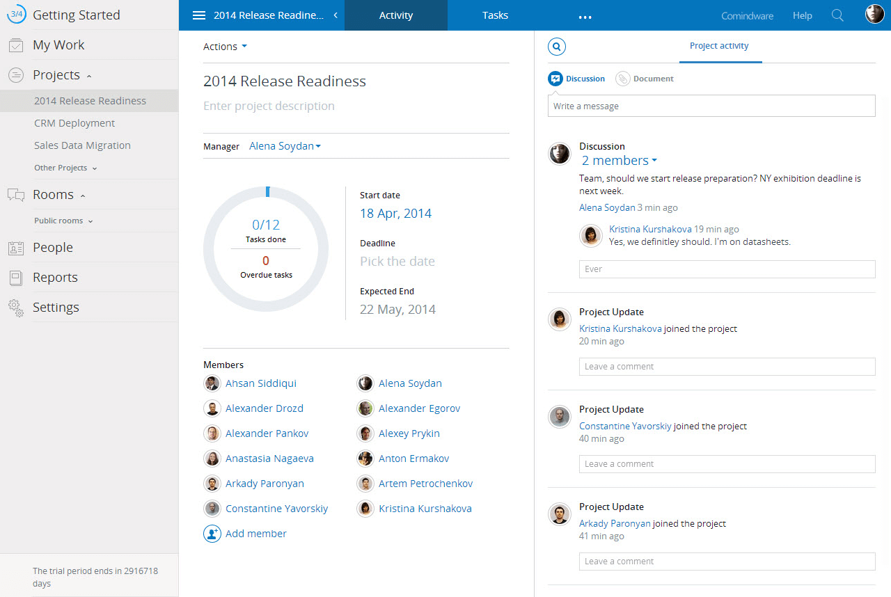 Comindware Social Collaboration tool